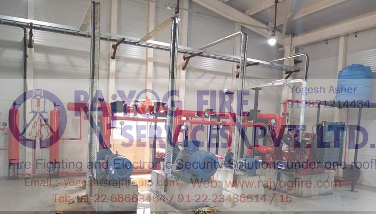 Deluge System For Water Curtain, Pump Panel, Hydrant Riser System